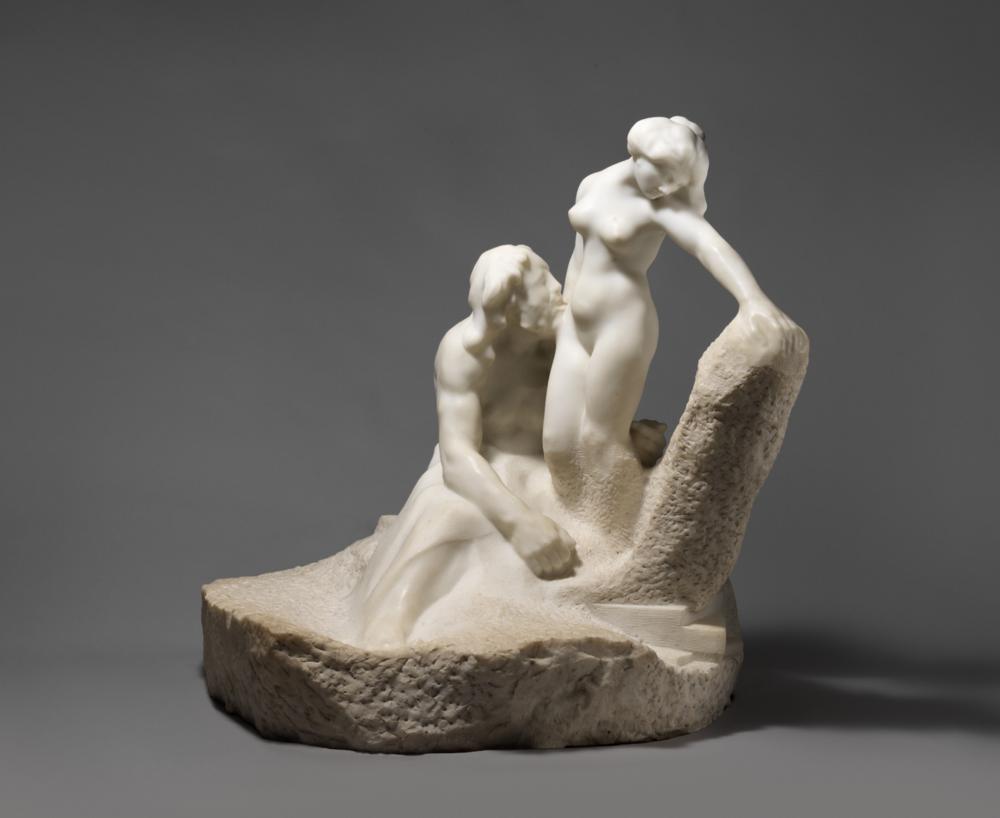 """""""Pygmalion and Galatea"""" by Auguste Rodin."""